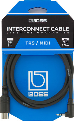 BOSS TRS/MIDI Cable for 200 Series Pedals (BMIDI-5-35) | Northeast Music Center Inc.