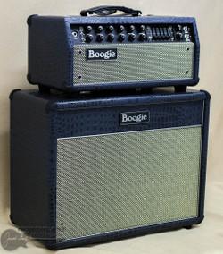 Mesa Boogie Mark V: 35 Amp Head, Matching 1x12 Lonestar Cabinet - Navy Croc w/ Cream/Black Grille | Northeast Music center Inc.