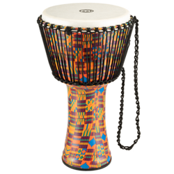 "Meinl Rope Tuned Travel Series Djembe 14"" - Kenyan Quilt"