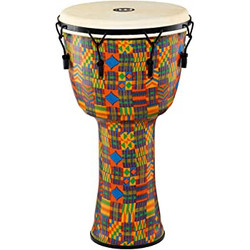 "Meinl Mechanical Tuned Travel Djembe Goat Head 10"" - Kenyan Quilt"