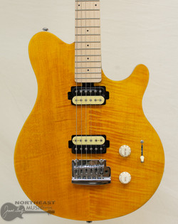 Sterling by Music-Man SUB Series Axis Flame Maple - Trans Gold (AX3FM-TGO-M1) | Northeast Music Center Inc.