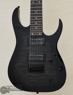 Ibanez GRG7221QA Gio 7-String Electric Guitar - Transparent Black Burst | Northeast Music Center Inc.