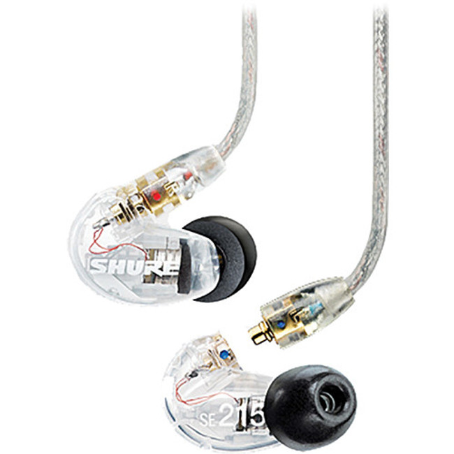Shure SE215 Sound Isolating Earphones in Clear