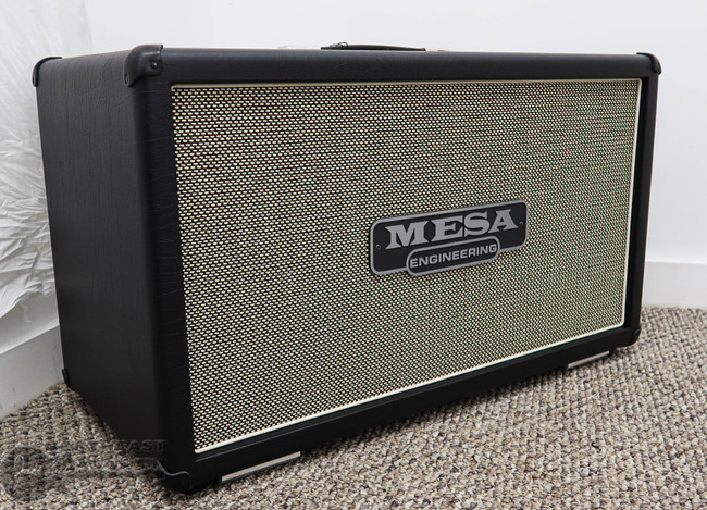 Mesa Boogie 2x12 Recto Horizontal Cabinet - Black Taurus w/ Cream Black Grille | Northeast Music Center Inc.