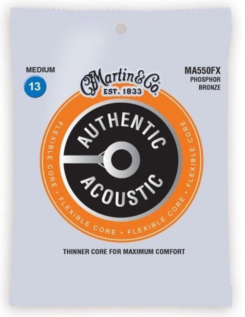 Martin Flexible Core Medium Gauge Acoustic Guitar Strings (MA550FX)   Northeast Music Center Inc.