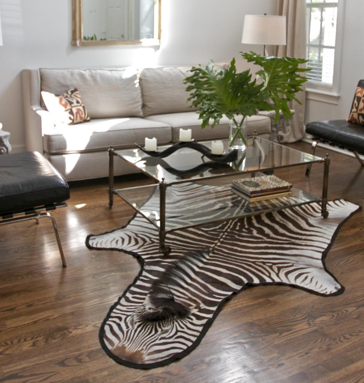 Dira Zebra Skin Rug   Real   Imported Africa