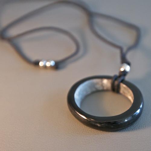 Dark Hoop Necklace