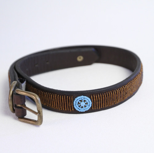 Maasai Beaded Dog Collar - Copper