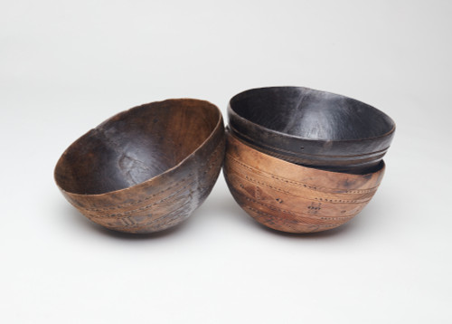 Old Hand Carved African Wooden Bowl