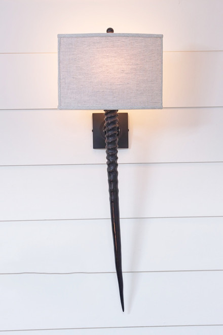 Gemsbok Horn Wall Sconce