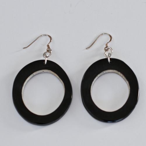 Horn Hoop Earrings - Dark
