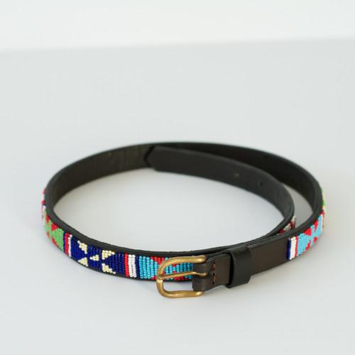 Maasai Beaded Disc Belt - Multi 2 cm