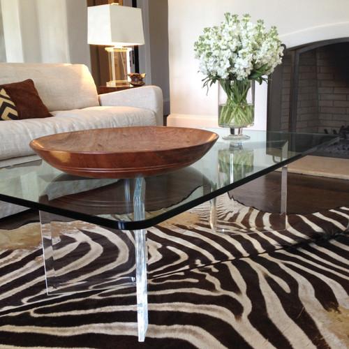 V-shaped Acrylic Coffee Table Bases - Pair