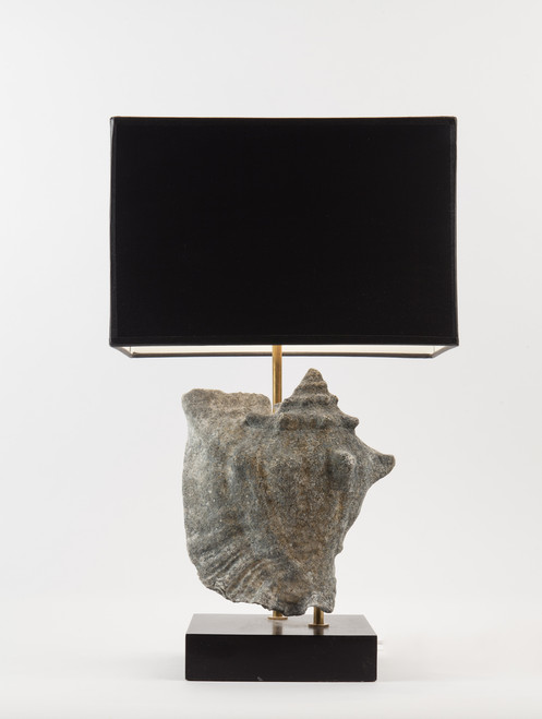 The Patricia Collection - Conch Shell Table Lamp - Grey