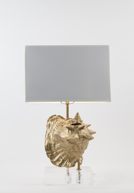 The Patricia Collection - Conch Shell Table Lamp - Gold