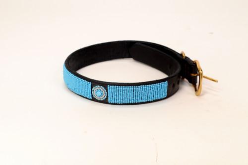 Maasai Beaded Dog Collar - Blue