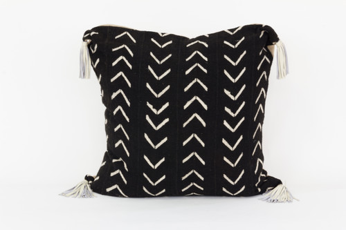 Bogolan Mud Cloth Floor Pillow-Arrow