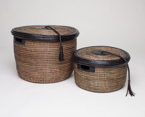 Black Handwoven Teglah Basket - Senegal