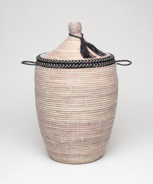Douwe Basket  Frosted/Bogolan Trim