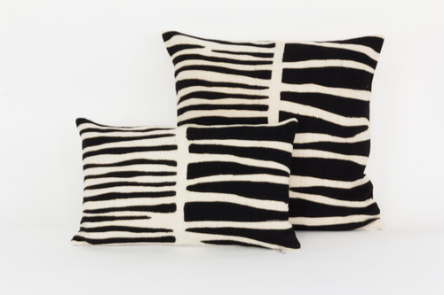 Bogolan Pillow - Zebra