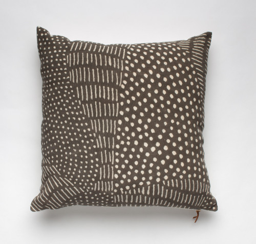 Bogolan Pillow - Grey with Dots
