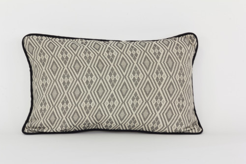 Pagne Tisse' Pillow - Dark Grey Pattern