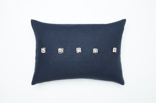 Camel Beads Pillow-Navy