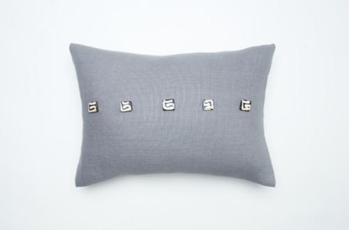 Camel Beads Pillow-Dark Grey