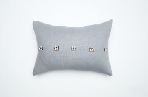 Camel Beads Pillow-Light Grey