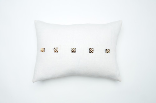 Camel Beads Pillow-Ivory