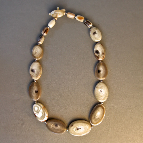 Flat Bead Necklace - Light