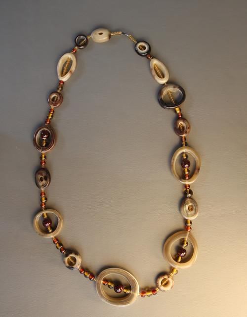 The Alexandra Hoop & Bead Necklace - Light