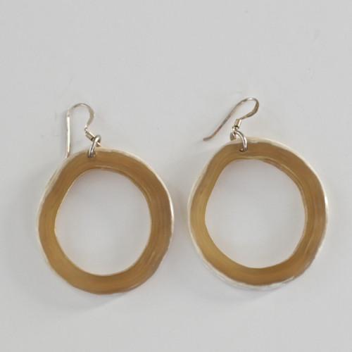 Horn Hoop Earrings - Light