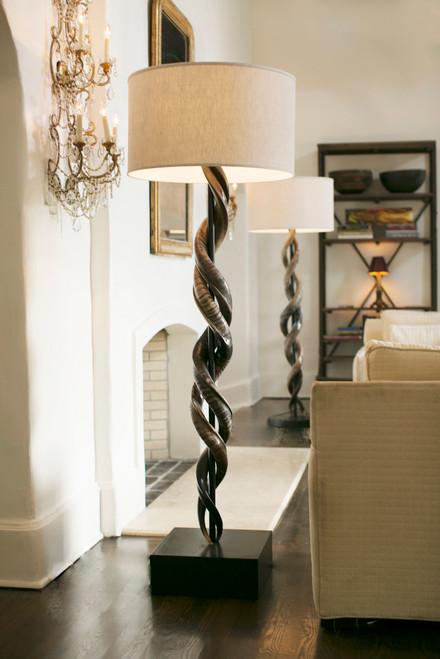 Double Kudu Horn Floor Lamp