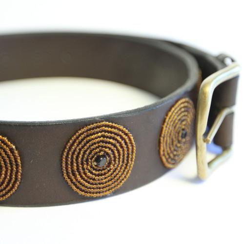 Maasai Beaded Disc Belt - Copper