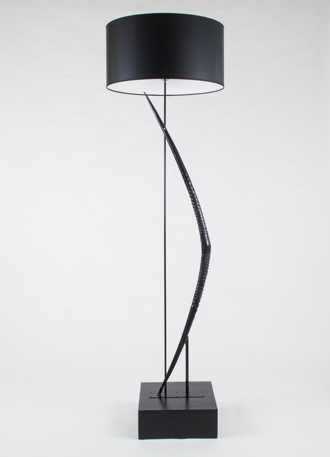 Gemsbok Horn Bow Floor Lamp