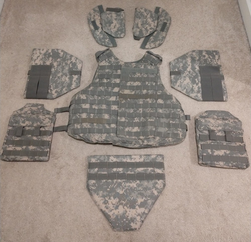 ACU Interceptor Body Armor, Mfg by Specialty Defense, Size M, with Inserts/Accessories
