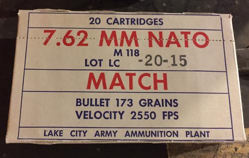 M118 Match 7.62 x 51 Lake City