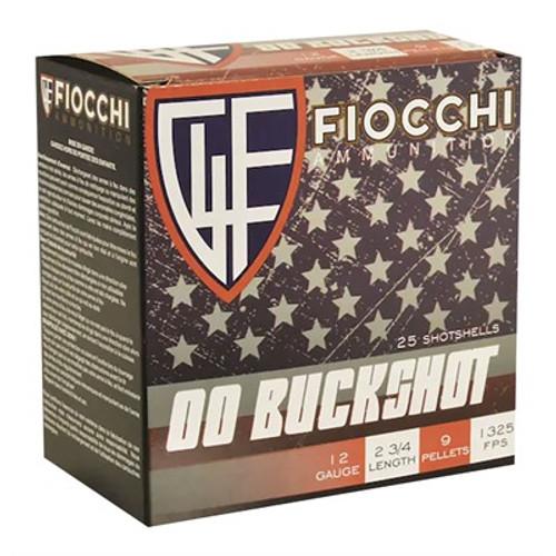 "Fiocchi Buckshot 12ga 2 3/4"" 1325fps #00 Buck 25/bx"