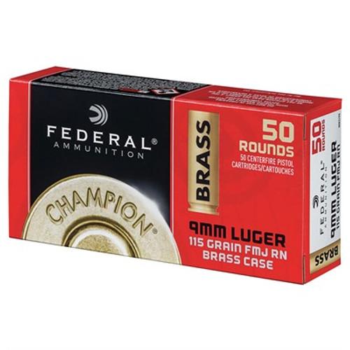 FEDERAL 9MM LUGER 115GR FULL METAL JACKET 50/BOX