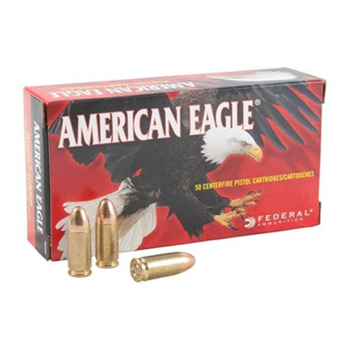 AMERICAN EAGLE 9MM 124GR FMJ 50/BX