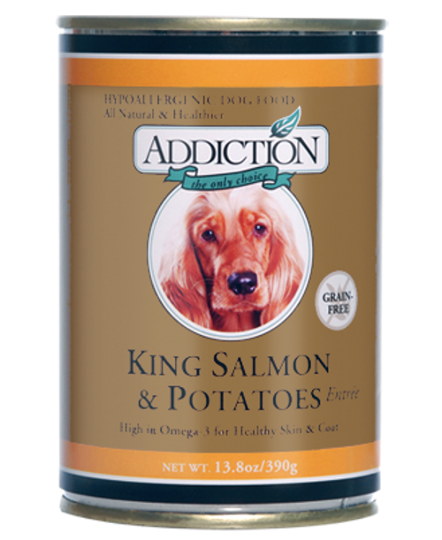 Addiction King Salmon & Potatoes Dog Canned Food