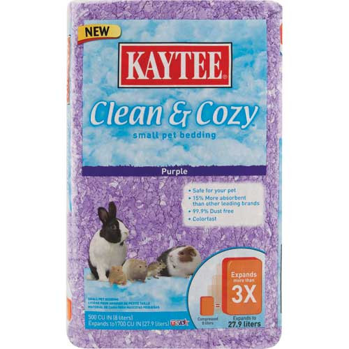 Kaytee Clean & Cozy Purple Bedding 500 cu in