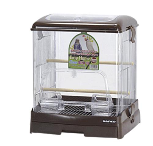 Sanko Wild Acrylic Bird Cage (Brown)