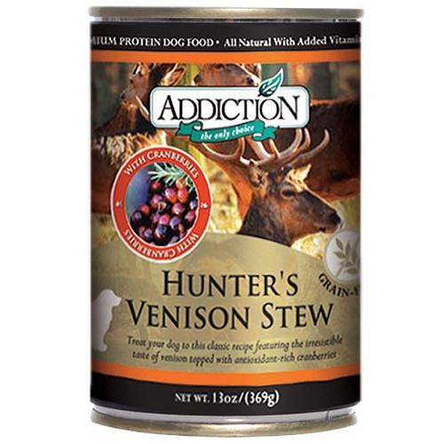 Addiction Hunter's Venison Stew Dog Canned AD1041