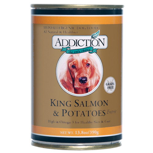 Addiction King Salmon & Potatoes Dog Canned
