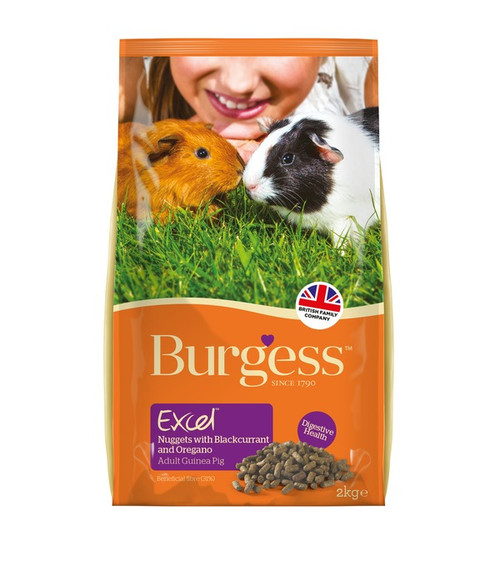 Burgess Excel Adult Guinea Pig Nuggets  with Blackcurrant and Oregano