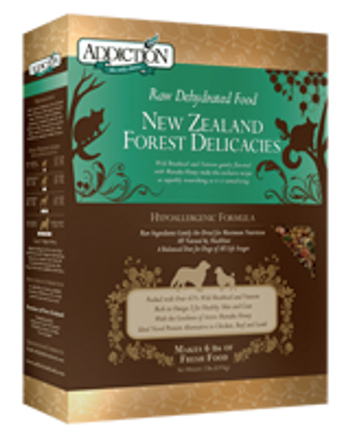 Addiction NZ Forest Delicacies Raw Dehydrated Dog Food