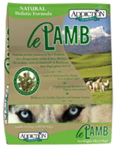 Addiction Le Lamb Dog Kibbles