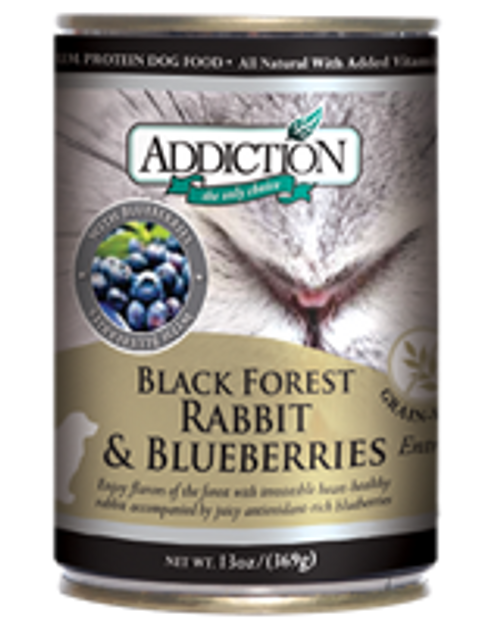 Addiction Black Forest Rabbit and Blueberries Dog Canned